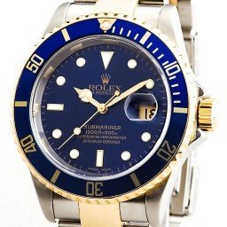 Mens Rolex Two-Tone 18K/SS Submariner Blue  16613T