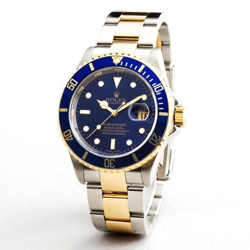 Rolex Two-Tone Submariner 16613T Blue -3