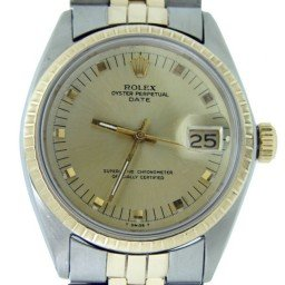Mens Rolex Two-Tone 14K/SS Date Champagne  1505 (SKU 2291627MT)