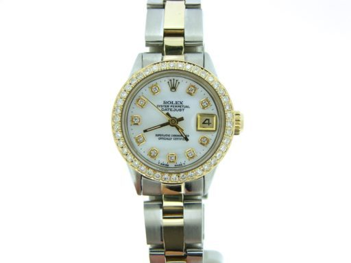 Rolex Two-Tone Datejust 6517 White MOP Diamond-6