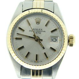 Ladies Rolex Two-Tone 14K/SS Date Silver  6917 (SKU 4191429MT)