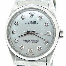 Mens Rolex Stainless Steel Oyster Perpetual White MOP Diamond 1002 (SKU 5098120NNCMT)