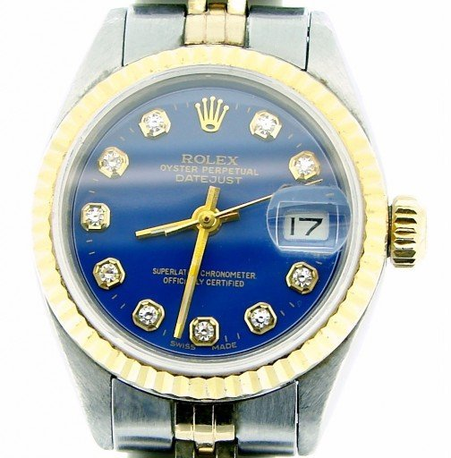 Rolex Two-Tone Datejust 6917 Blue Diamond-1