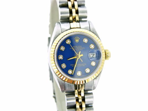 Rolex Two-Tone Datejust 6917 Blue Diamond-4