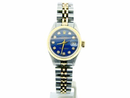 Rolex Two-Tone Datejust 6917 Blue Diamond-5