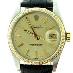 Mens Rolex Two-Tone 14K/SS Date Champagne  1505 (SKU 5845812MT)
