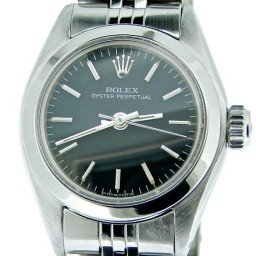 Ladies Rolex Stainless Steel Oyster Perpetual Black  6718 (SKU 5866151NNCMT)
