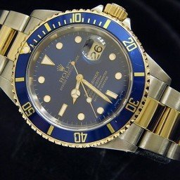 Mens Rolex Two-Tone 18K/SS Submariner Blue  16613