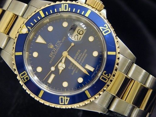 Rolex Two-Tone Submariner 16613 Blue -3