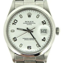 Mens Rolex Stainless Steel Date White Arabic 15000 (SKU 7270537MT)