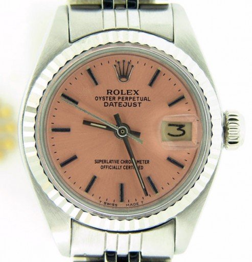 Rolex Stainless Steel Datejust 6917 Salmon -1