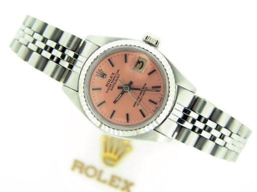 Rolex Stainless Steel Datejust 6917 Salmon -4