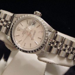 Ladies Rolex Stainless Steel Date Silver  79240