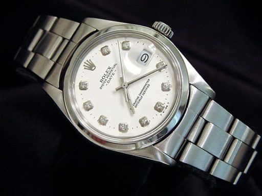 Rolex Stainless Steel Date 1500 White Diamond-4