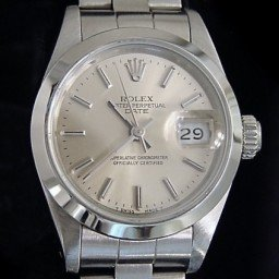Ladies Rolex Stainless Steel Date Silver  69160