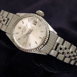 Ladies Rolex Stainless Steel Date Silver  6517