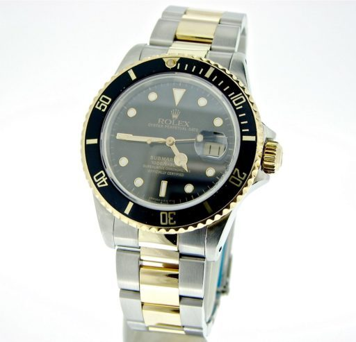 Rolex Two-Tone Submariner 16803 Black -6