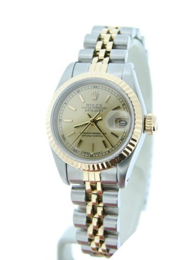 Rolex Two-Tone Datejust 69173 Champagne -6