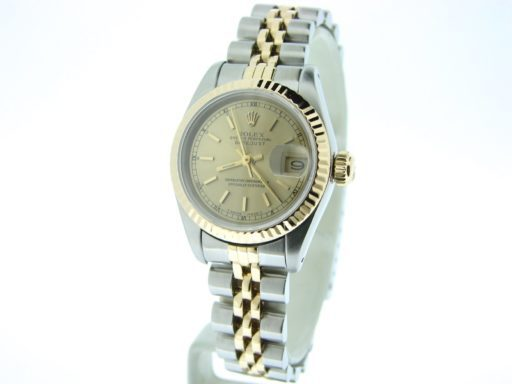 Rolex Two-Tone Datejust 69173 Champagne -7