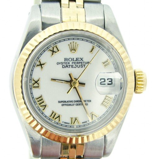 Rolex Two-Tone Datejust 69173 White Roman-1