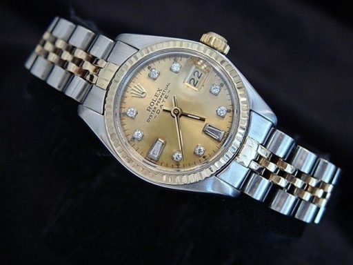 Rolex Two-Tone Date 6917 Champagne Diamond-4