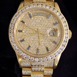 Mens Rolex 18K Gold Day-Date President Full Diamond 18038 (SKU 5972758AMT)