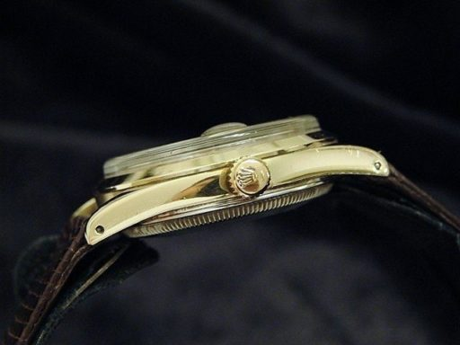 Rolex Gold Shell Date 1550 Silver-2