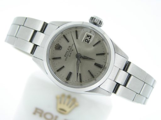 Rolex Stainless Steel Date 6516 Silver -5