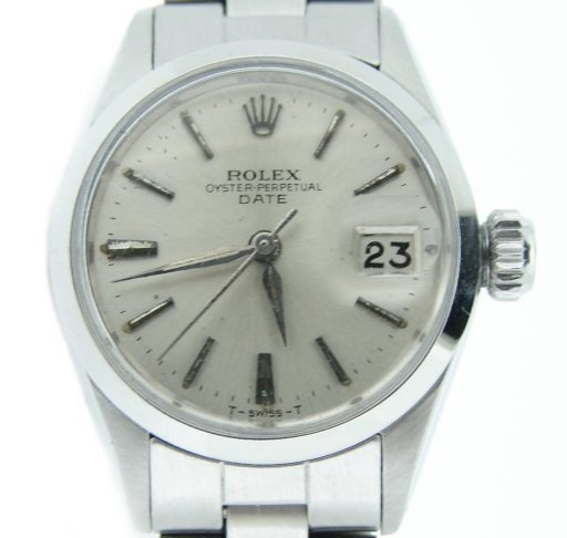Rolex Stainless Steel Date 6516 Silver -1