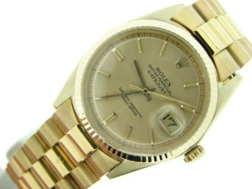 Rolex 18K Yellow Gold Datejust 1601 Champagne -8