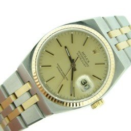 Pre Owned Mens Rolex Two-Tone Oysterquartz Datejust Gold Champagne 17013 (SKU 9867076M)