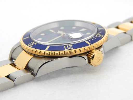 Rolex Two-Tone Submariner 16613T Blue -2