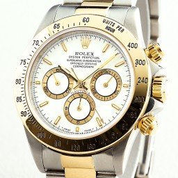 Mens Rolex Two-Tone 18K/SS Daytona White  16523 (SKU 16523111BCMT)