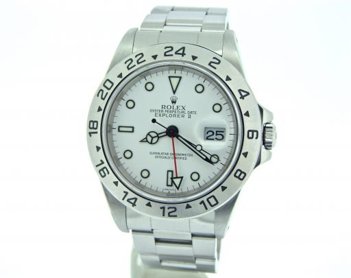 Rolex Stainless Steel Explorer II 16570 White -6