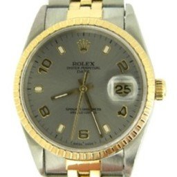Mens Rolex Two-Tone 18K/SS Date Slate Arabic 15223 (SKU DA9022MT)
