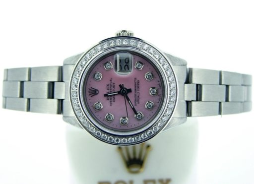 Rolex Stainless Steel Datejust 6917 Pink MOP Diamond-3