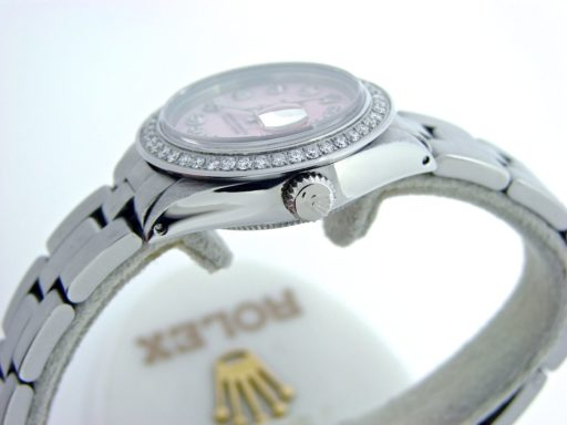 Rolex Stainless Steel Datejust 6917 Pink MOP Diamond-2