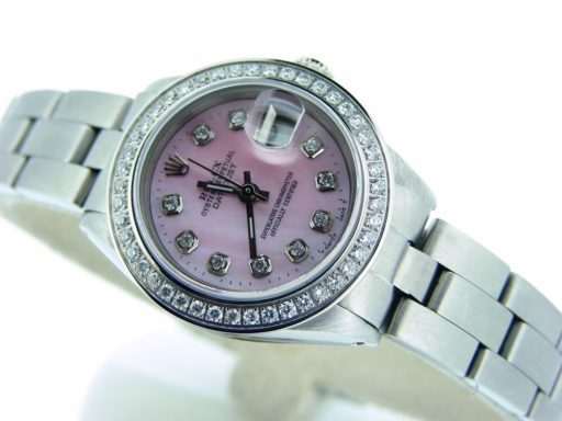 Rolex Stainless Steel Datejust 6917 Pink MOP Diamond-4