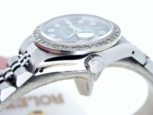 Rolex Stainless Steel Datejust 6916 Tahitian MOP Diamond-3