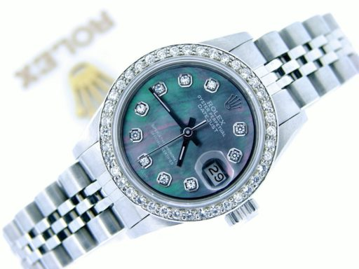 Rolex Stainless Steel Datejust 6916 Tahitian MOP Diamond-4