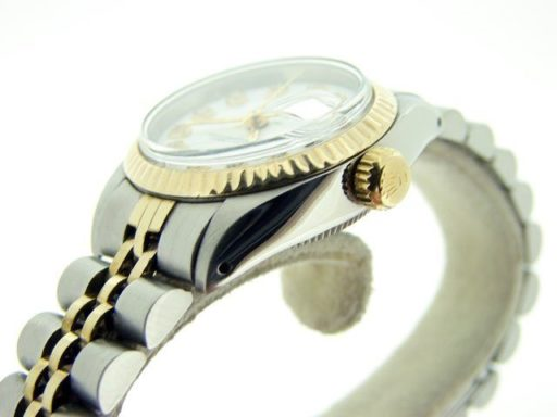 Rolex Two-Tone Datejust 6917 White Diamond-4