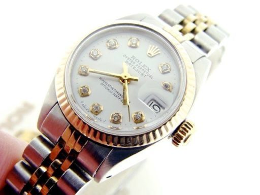 Rolex Two-Tone Datejust 6917 White Diamond-5