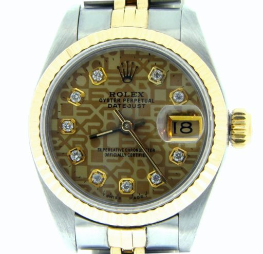 Rolex Two-Tone Datejust 69173 Anniversary Diamond-1