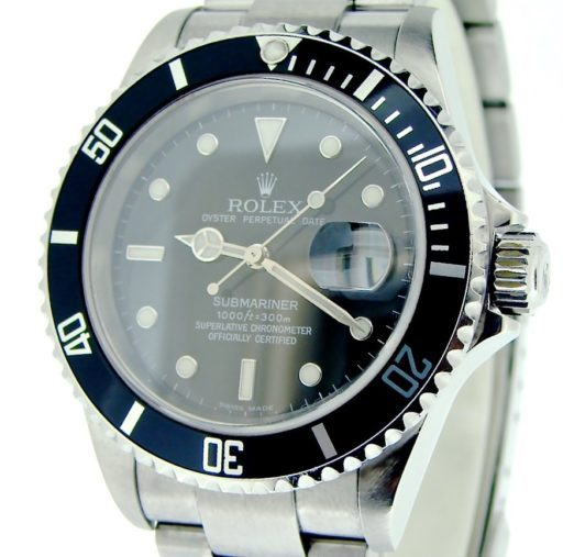 Rolex Stainless Steel Submariner 16610T Black -1