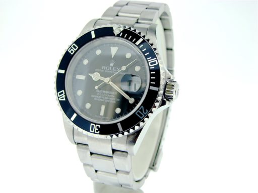 Rolex Stainless Steel Submariner 16610T Black -5
