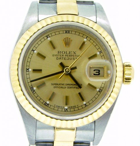Rolex Two-Tone Datejust 79173 Champagne -1