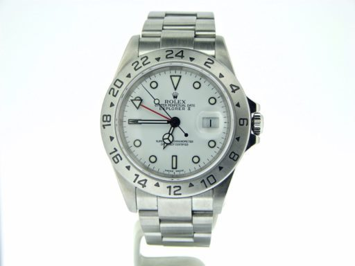 Rolex Stainless Steel Explorer II 16570 White -7
