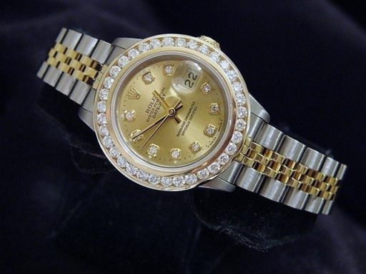 Rolex Two-Tone Datejust 69173 Champagne Diamond-5