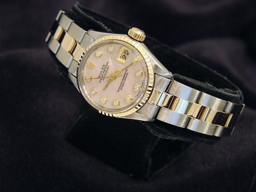 Rolex Two-Tone Datejust 6917 Pink MOP Diamond-2