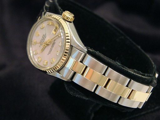 Rolex Two-Tone Datejust 6917 Pink MOP Diamond-3